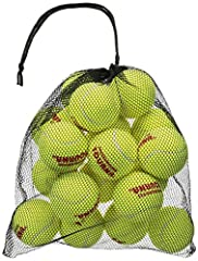 REUSABLE MESH CARRY BAG. Tourna balls come in a convenient reusable and closeable mesh bag for easy transport and storage. TOURNA PRESSURLESS BALLS NEVER LOSE THEIR BOUNCE. Regular tennis balls go flat over time, even if you don't use them. These bal...