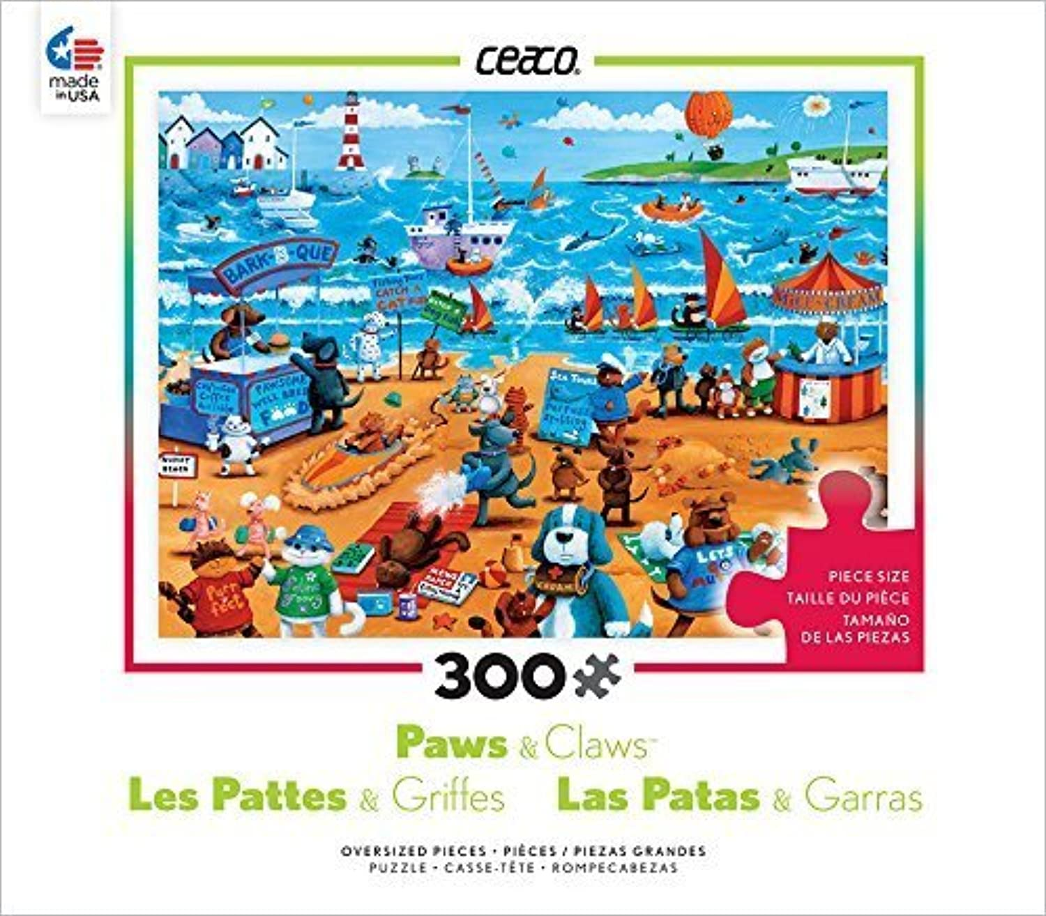 Ceaco Paws & Claws  Cats and Dogs Puzzle by Ceaco