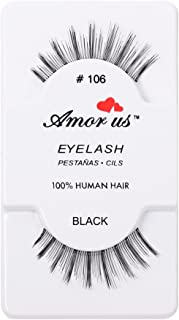 Amorus 100% Human Hair False Eyelashes Great Quality With Natural Look! Compare Red Cherry (12, 106)