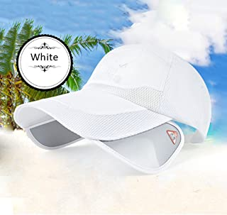 LPKH Baseball Cap Mesh Breathable Golf Cap Outdoor Mountaineering Climbing Visor ,Hat Eaves Retractable Sun UV Mirror hat (Color : White)