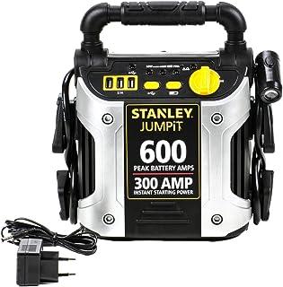 Starthilfegerät 12V 300A für Auto und Motorrad (Benzin, Diesel), Netzladeadapter, 3 USB Eingänge, Verpolungs und Batterieladestatus Anzeige, 270° LED Schwenklicht