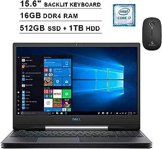 2020 最新のDell G5 15 5590 15.6インチ FHD 1080p ゲーム用ノートパソコン (インテル6コアi7-9750H 4.5GHzまで 12(ブーツ) + GTX 1660 Ti 6GB、Windows 10) + NexiGo ワイヤレスマウスバンドル 16GB RAM| 512GB SSD + 1TB HDD DELL