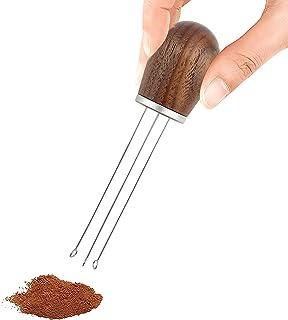 اداة توزيع مسحوق القهوة مع الابر ذات مقبض خشبي من بيتر لايف، مقاس 51 ملم و58 ملم