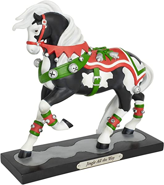 Enesco Trail Of Painted Ponies Jingle All The Way Figurine 7 75 Multicolor