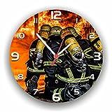 Hochwertige Feuerwehr Wanduhr Uhr 112 Prozent/Rüdiger Piorek Edition / 25cm / Geräucharm