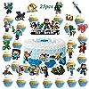 Minecraf_t ケーキトッパー 25個 マインクラフト おもちゃ カップケーキトッパー 子供用 誕生日パーティー ビデオゲームパーティー用品