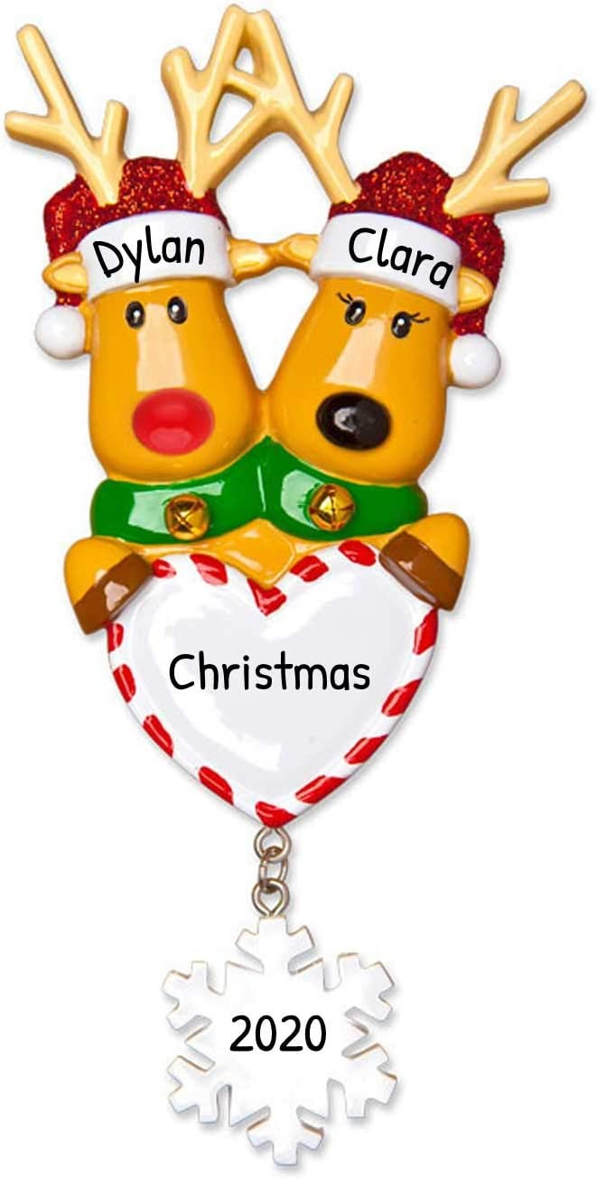 Personalized Coffee Lover Christmas Tree Ornament 2020 Free Customization White Cup Rein-Deer Candy Cane Fresh Beans Caffeine Addict Rudolph Christmoose Fun Gift Gift Year