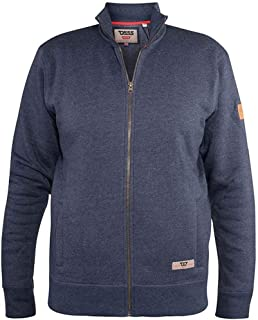 D555 Men's Kingsize Lamson Zip Sweatshirt Denim Marl