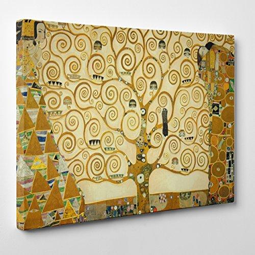 Quadro su Tela Canvas - INTELAIATO - Pronto da Appendere - L'Albero della Vita - Gustav Klimt - Cultura Arte - Art Nouveau Stile Liberty - 50x70cm - Senza Cornice - (cod.199)