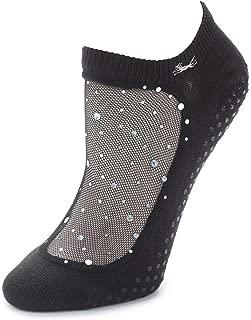 Star Glitter Mesh Non-Slip Sock, Ergonomic, Comfort Socks
