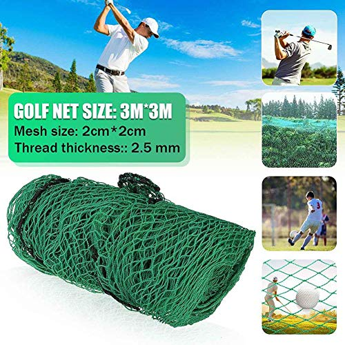 Corwar Red de Barrera de práctica de Golf, Red de Golpe de Pelota de Golf, Red de Alto Impacto de Golf, Red de contención de Golf, 10 x 10 pies