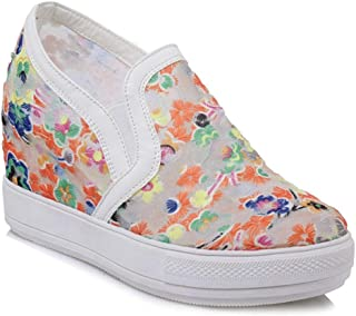 Bonrise Women's Platform Wedges Sneakers Lightweight Hiking Slip On Casual Sport Loafer Walking Shoes