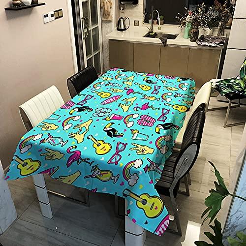 Mantel de patrón de Moda para el hogar, tapete de Mesa Impermeable y a Prueba de Aceite de Moda, tapete de Mesa de café para Exteriores e Interiores M-7 140x180cm