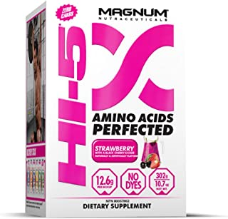 Magnum Nutraceuticals HI-5 Strawberry - 24 Servings - Amino Acids - Gain Lean Muscle - Reduce Fatigue - Improve Recovery