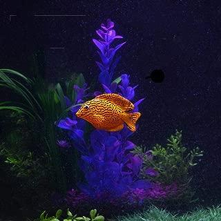 Hot Sale!DEESEE(TM)🌸🌸Plastic Swimming Faux Fake Gold Fish Aquarium Fish Tank Decor Orname Gift (B)