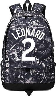 バスケットボール選手スターカワイ レナード発光ボールストレージバックパックスポーツ機器預金多機能学生ブックバッグ男性女性