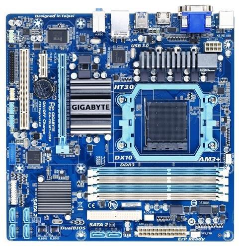 Gigabyte GA-78LMT-USB3 - GA-78LMT-USB3, 760G, DualDDR3-1066, SATA2, GBLAN, D-SUB, mATX