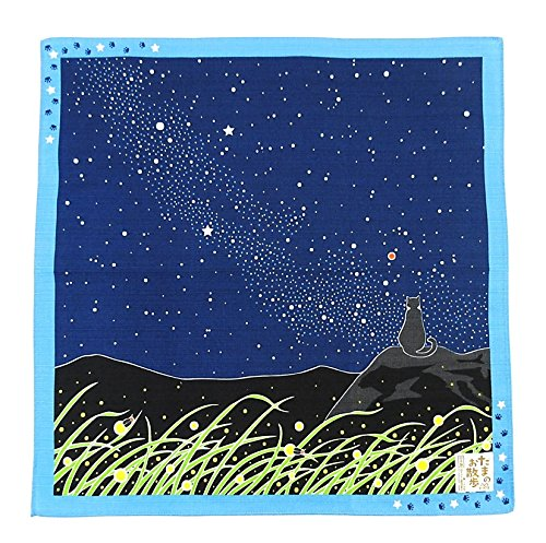 FUROSHIKI- Japanese Wrapping Cloth (Travelling-cat : Milky way)