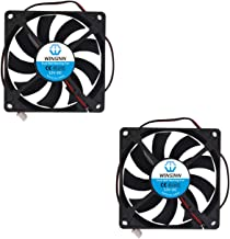 WINSINN 80mm Fan 12V Dual Ball Bearing Brushless 8015 80x15mm for Cooling PC Computer Case CPU Set-top Box Router Receiver DVR Playstation Xbox (Pack of 2Pcs)