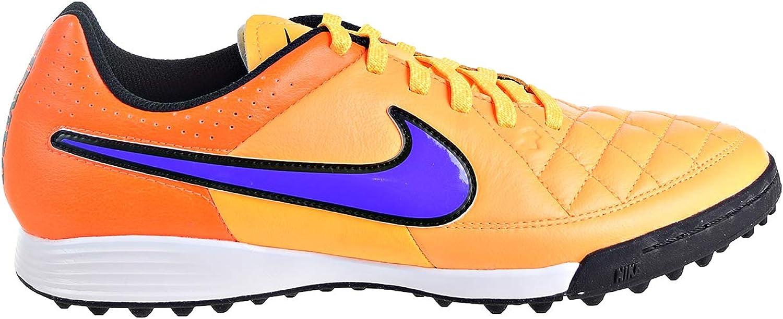 Nike Men's Tiempo Genio Leather TF- (Laser orange Total orange Volt Persian purple)