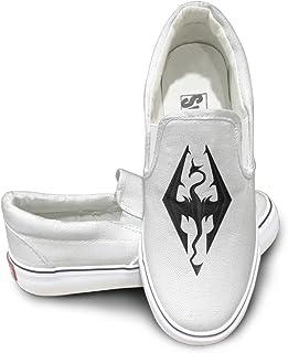 ALIPAPA Custom Men's & Women's Funny Video Game Logo Nude Shoes White
