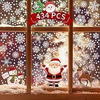 434-Piece Kidtion Christmas Window Clings