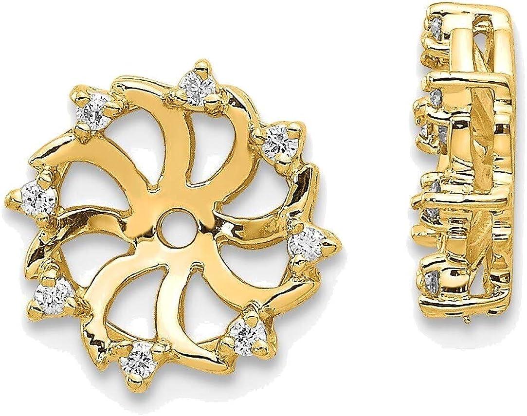 AA Diamond Earring Jacket in 14K Yellow Gold