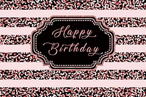 YongFoto 5x4ft Vinyl Max 64% OFF Happy Birthday Backdrop Shini Pink Glitters New life