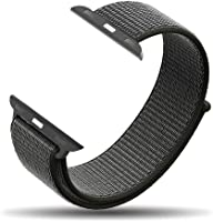 amBand Compatible for Apple Watch Band 38mm 40mm 42mm 44mm, Lightweight Nylon for Women Men Replacement Band Compatible for iWatch Series 1/2/3/4, Sport, Edition