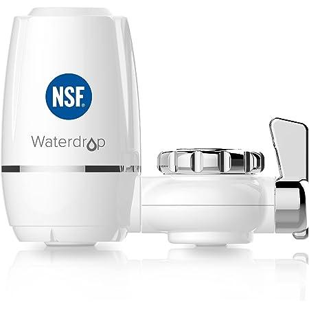 Waterdrop WD-FC-03 Système de Filtration de Robinet d'eau Longue Durée, Filtre à Eau de Robinet, Réduit Le Chlore, Le Goût et l'Odeur - Convient aux Robinets Standard (1 Filtre Inclus)