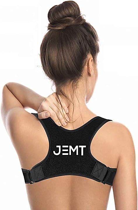 Fascia posturale jemt 3.0 spalle e schiena uomo donna, correttore postura collo, tutore, nuovo design sportivo IT - 731