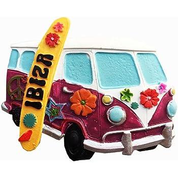Ibiza España imán de nevera 3D artesanía recuerdo resina imanes de nevera colección regalo de viaje: Amazon.es: Hogar