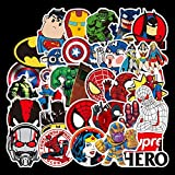LZWNB Iron Man Spiderman Capitán América Superhero Sticker Graffiti Sticker Avengers Sticker Set...