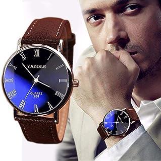 Clearance!Casual Men Wristwatch Simple Minimalist Business Big Face Analog Watch Zulmaliu