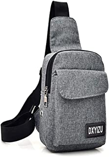 Docooler Portable Travel Bag Canvas Chest Bag Casual Crossbody Shoulder Bag Rucksacks for Men Women