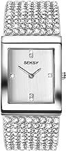 Seksy Women's Swarovski Crystal Bracelet Watches, Made with Swarvoski Crystals on Strap, Various Styles: Black, Silver, Rose Gold, Blue, Leopard, Zebra, Water Resistant, Adjustable