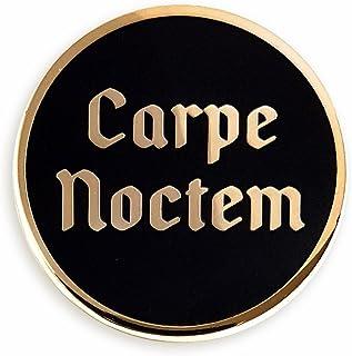 "Pinsanity Carpe Noctem""Seize The Night"" Gothic Enamel Lapel Pin"