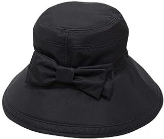 100%完全遮光 99%ではダメなんです! 【Rose Blanc】帽子 レディース リボンハット12cm 総遮光 接触冷感素材使用 撥水加工生地 020124