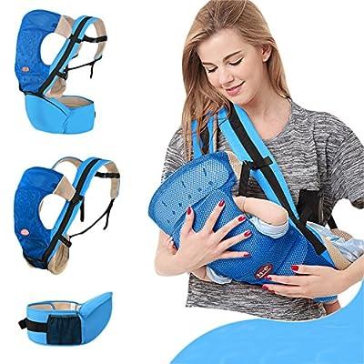 kuuboo carrito de bebé cinturón de cintura taburete delantera y trasera portador infantil comodidad Kid 4en 1Carry formas portabebés Baby Carrier Mochila