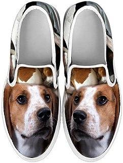Pawlice Shetland Sheepdog Print Slip Ons Shoes for Women for Shetland Sheepdog Lovers