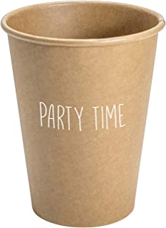 SB Design Studio D2261 Sips Drinkware 12-Ounce Kraft Paper Cups, Party Time