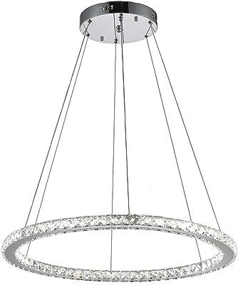 Amazon Com Mirrea 36w Modern Dimmable Led Chandelier Pendant Light