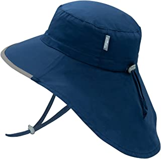 JAN & JUL GRO-with-Me Cotton Adventure Hat | 50+ UPF Adjustable Toddler Sun Hat for Baby and Kids