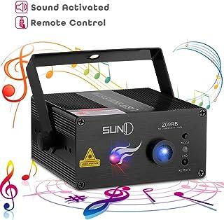 SUNY Laser Lighting 8 Gobos Effect Red Blue DJ Laser Light Blue LED Music Laser Projector