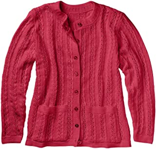 Women's Cardigan Sweater Button Down Long Sleeve with Two Front Pockets