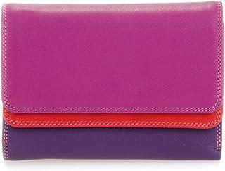 billetereo monedero de piel para mujer -mywalit - double flap purse/wallet - 250-75 - sangria multi