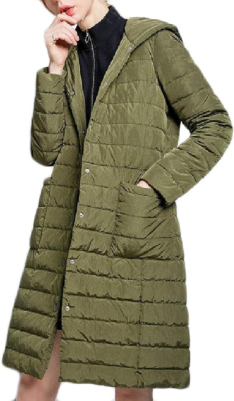 Nicelly Women's Premium Pure Colour Plus Size Buttonup Down Jacket