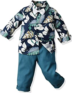 ARTMINE Baby Boy Floral Outfit, 6 Months - 5 Years