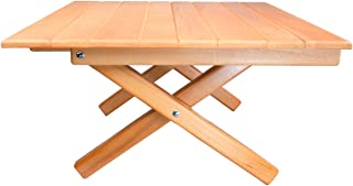 SHORT TABLE Simple Setup All-Purpose Indoor or Outdoor Use Table - Camp, Picnic, Patio, Bed, End Table - All Wood Height 10""