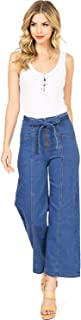 Machine Jeans Women's Juniors High Rise Denim Gaucho Pants
